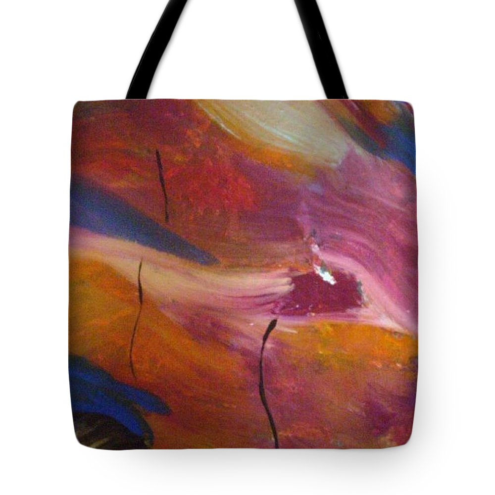 Abstract Art Tote Bag featuring the painting Broken Heart by Kelly Turner