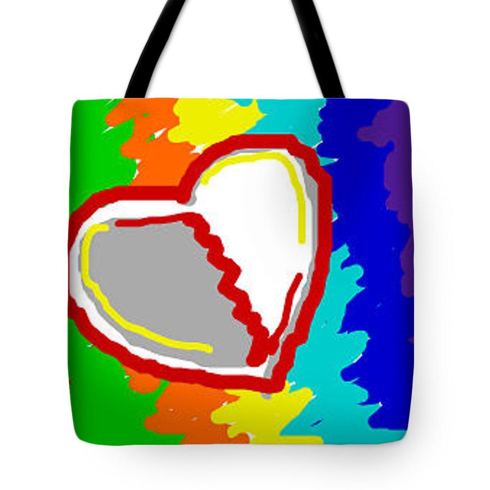 Heart Tote Bag featuring the digital art Broken Heart by Rabia Shabbir