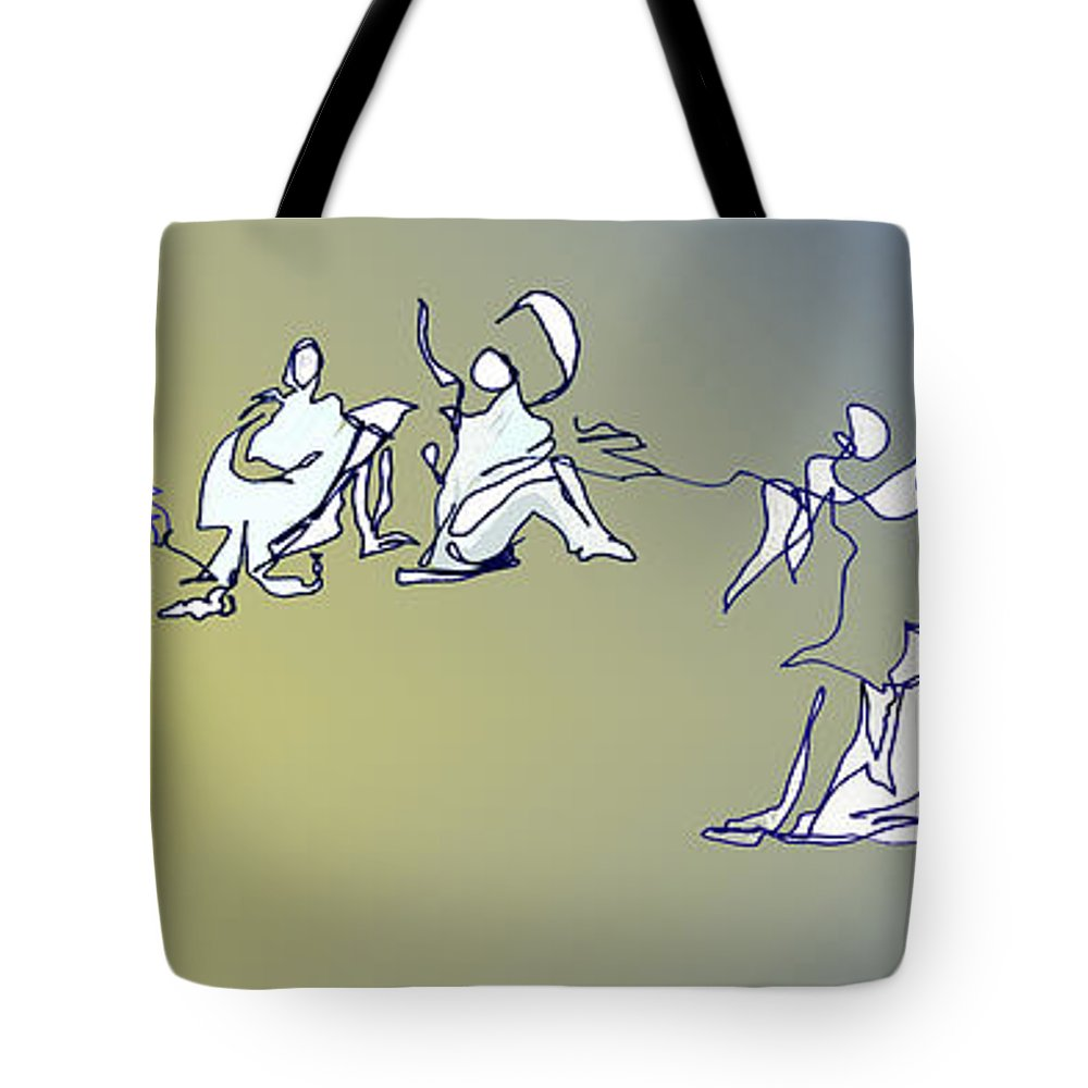 Dance Tote Bag featuring the digital art Broken Hearted by Anthe Capitan-Valais