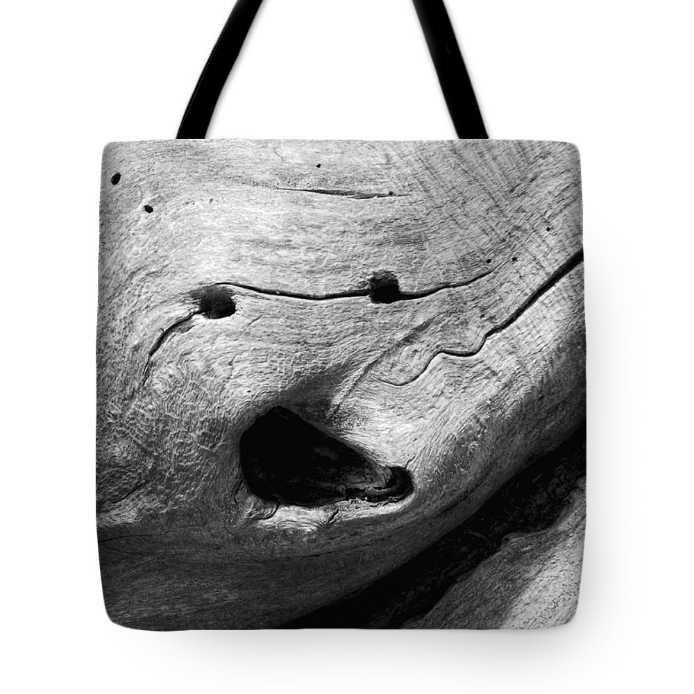 Wood Tote Bag featuring the photograph Broken Smiles by Donna Blackhall