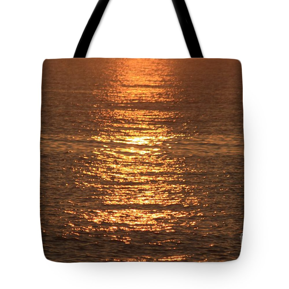 Ocean Tote Bag featuring the photograph Bronze Reflections by Nadine Rippelmeyer
