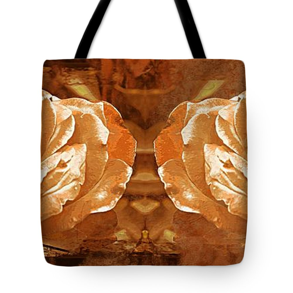 Rose Tote Bag featuring the photograph Bronzed by Clare Bevan