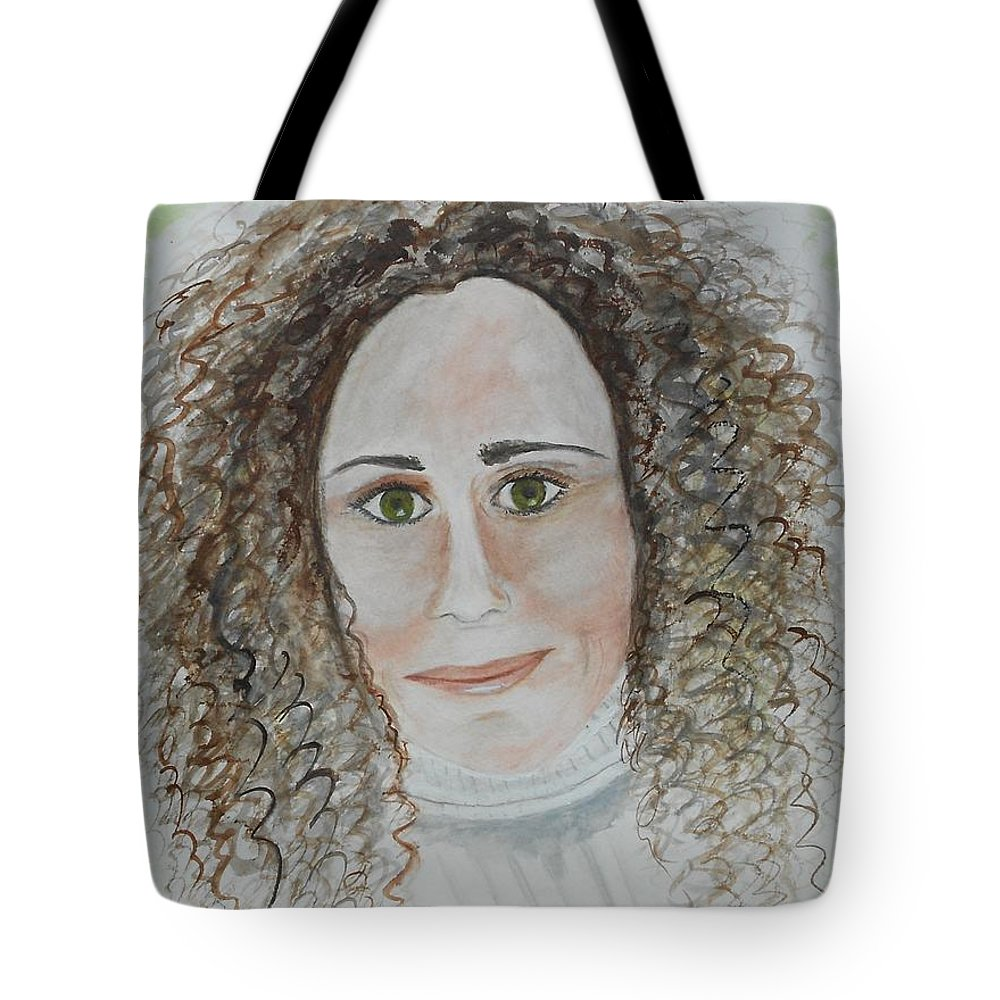 Portrait Tote Bag featuring the painting Brooke by Jamie Frier