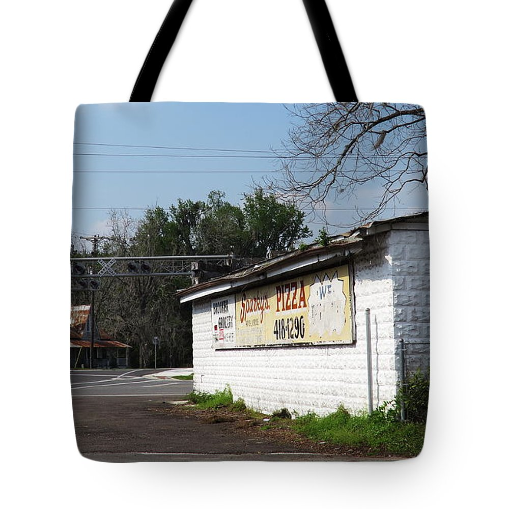 Landscape Tote Bag featuring the photograph Brooker Grocery by Roger Epps