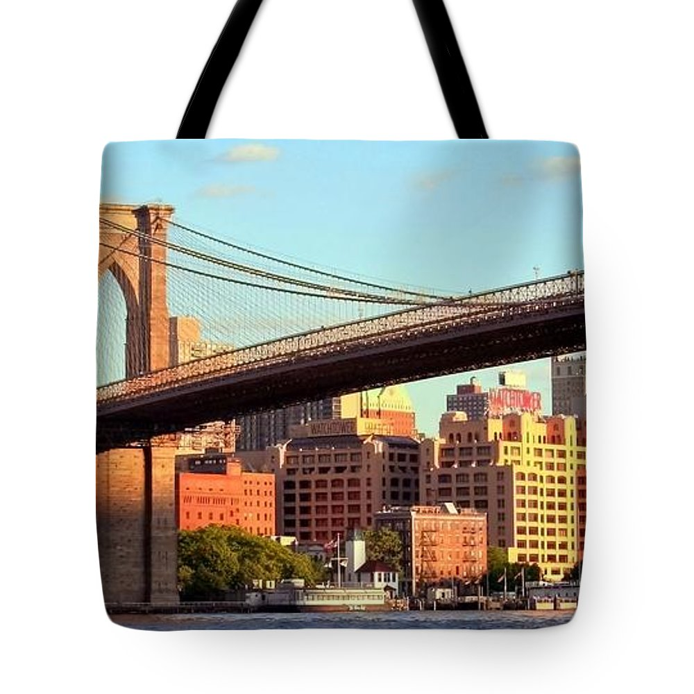 Brooklyn Tote Bag featuring the photograph Brooklyn by Mitch Cat