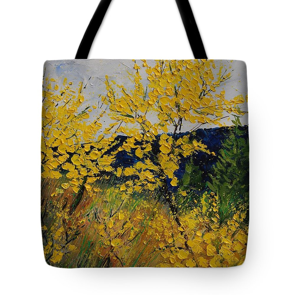 Flowers Tote Bag featuring the painting Brooms by Pol Ledent