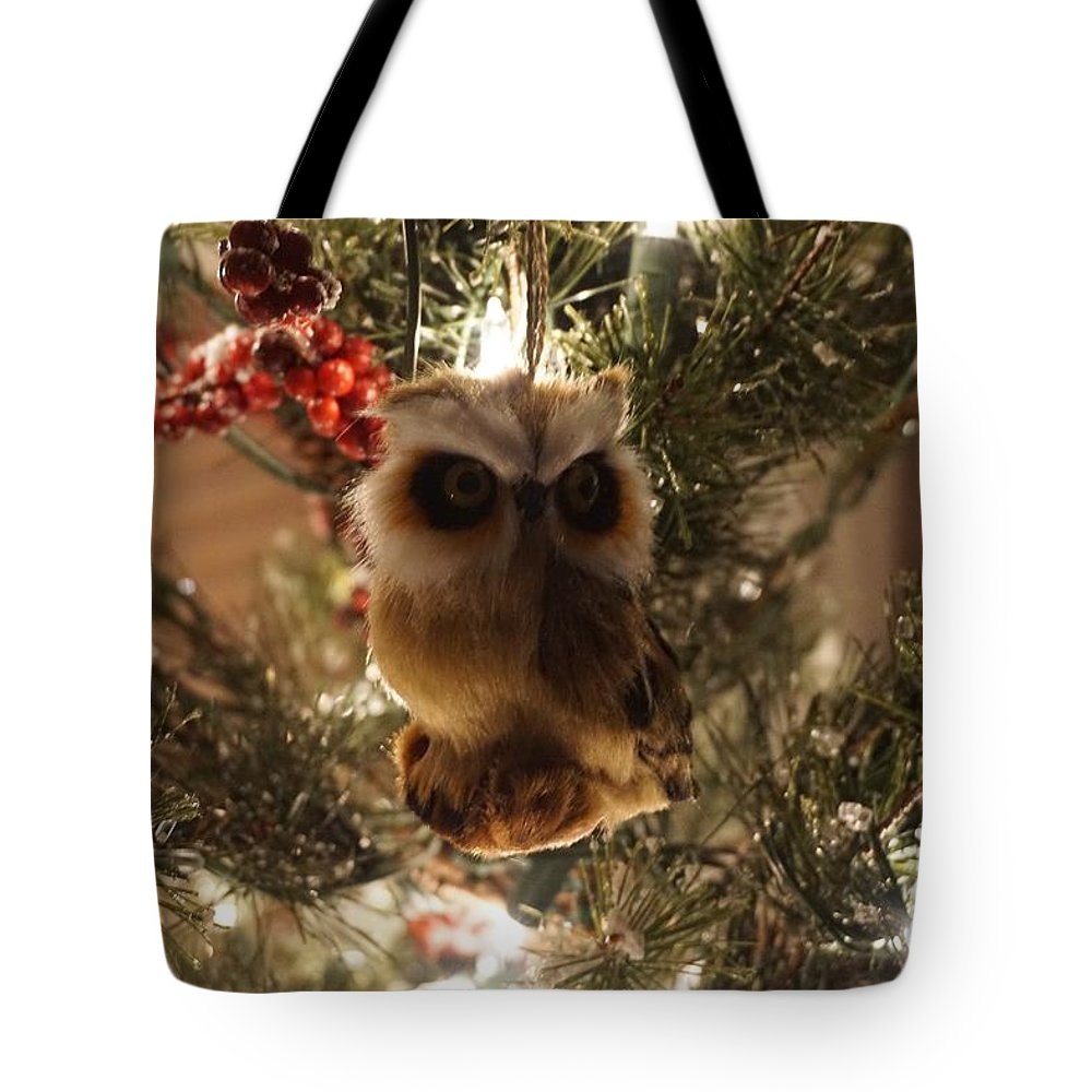 Winter Tote Bag featuring the photograph Brown Owl by Susan Brown