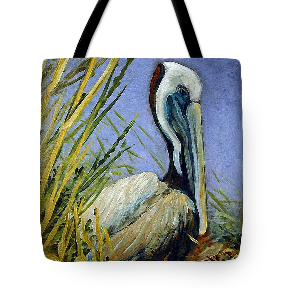 Acrylic Tote Bag featuring the painting Brownie Nesting by Suzanne McKee