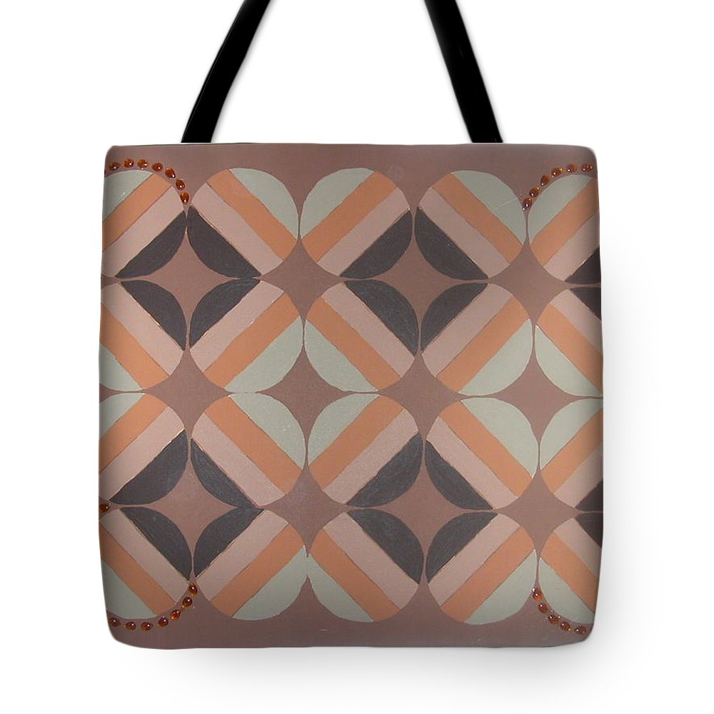 Brown Tote Bag featuring the painting Brownstone by Gay Dallek