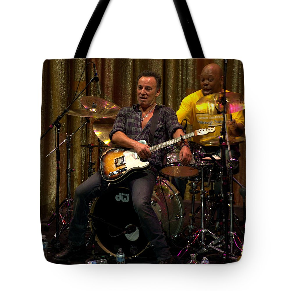 Jeff Ross Tote Bag featuring the photograph Bruce Springsteen by Jeff Ross