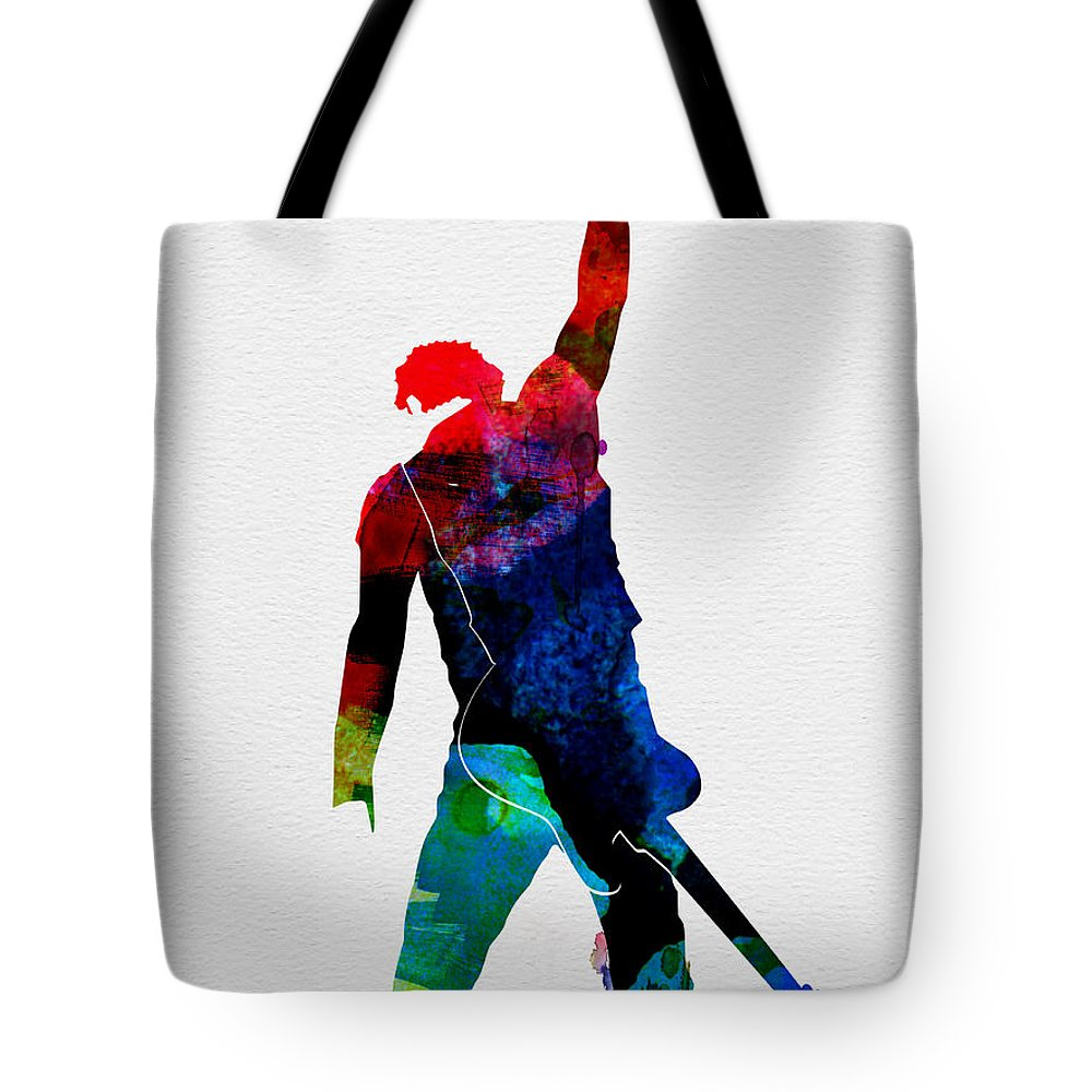 Bruce Springsteen Tote Bag featuring the painting Bruce Watercolor by Naxart Studio