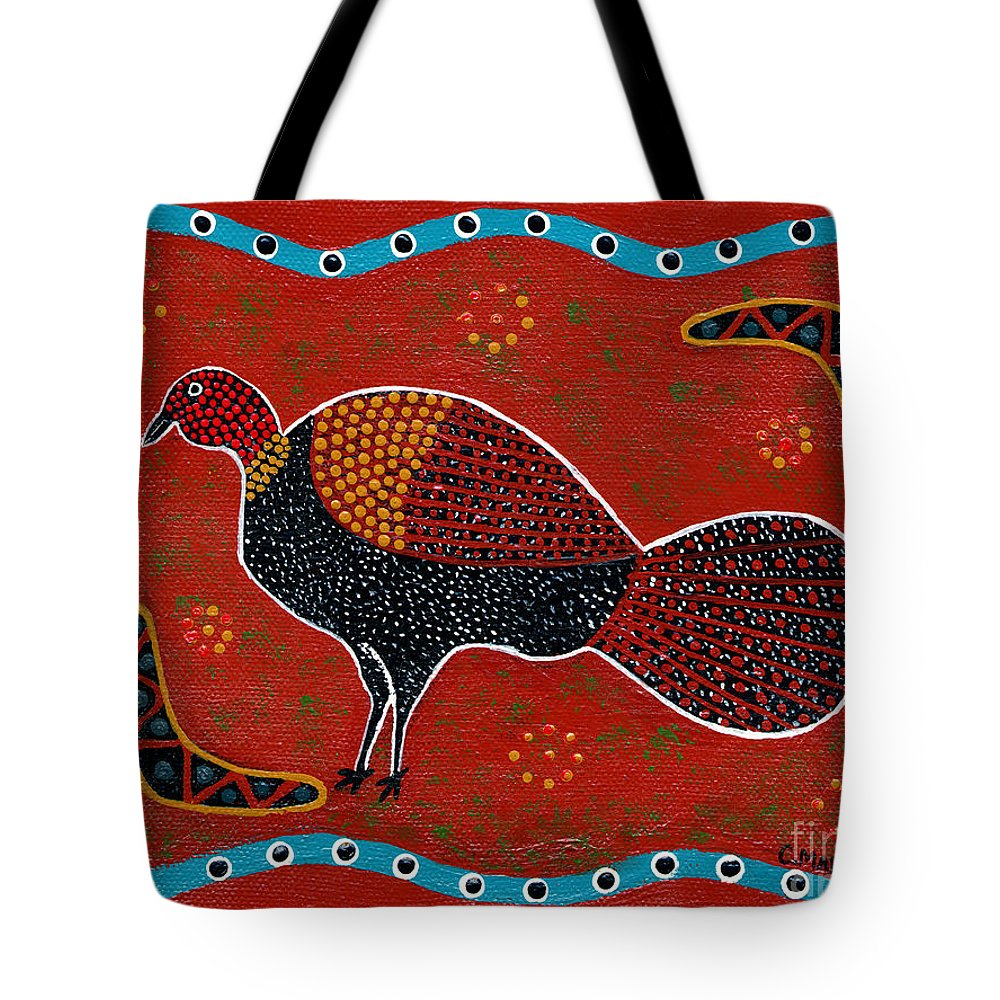 Brushturkey Tote Bag featuring the painting Brush Turkey by Clifford Madsen