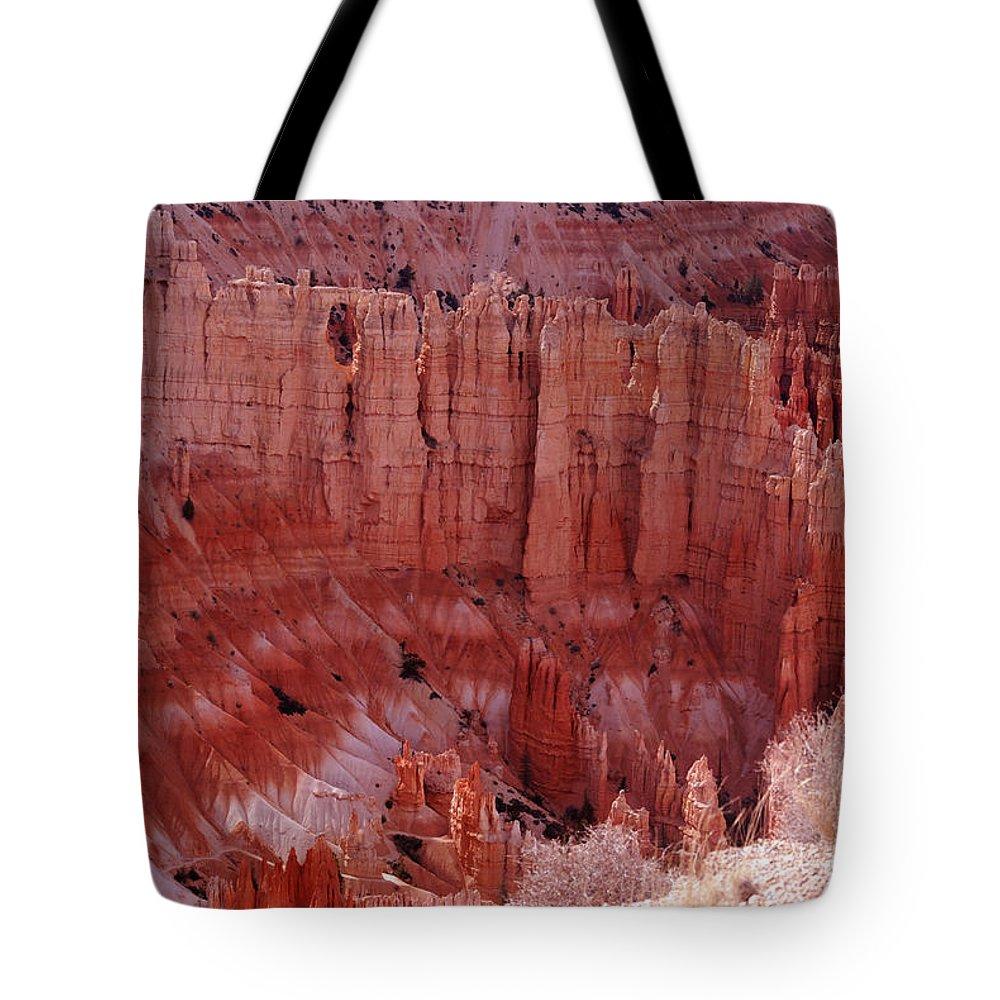 Landmark Tote Bag featuring the photograph Bryce Canyon Hoodoos by Susanne Van Hulst