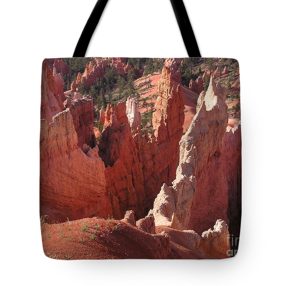 Bryce Tote Bag featuring the photograph Bryce Canyon Look by Louise Magno
