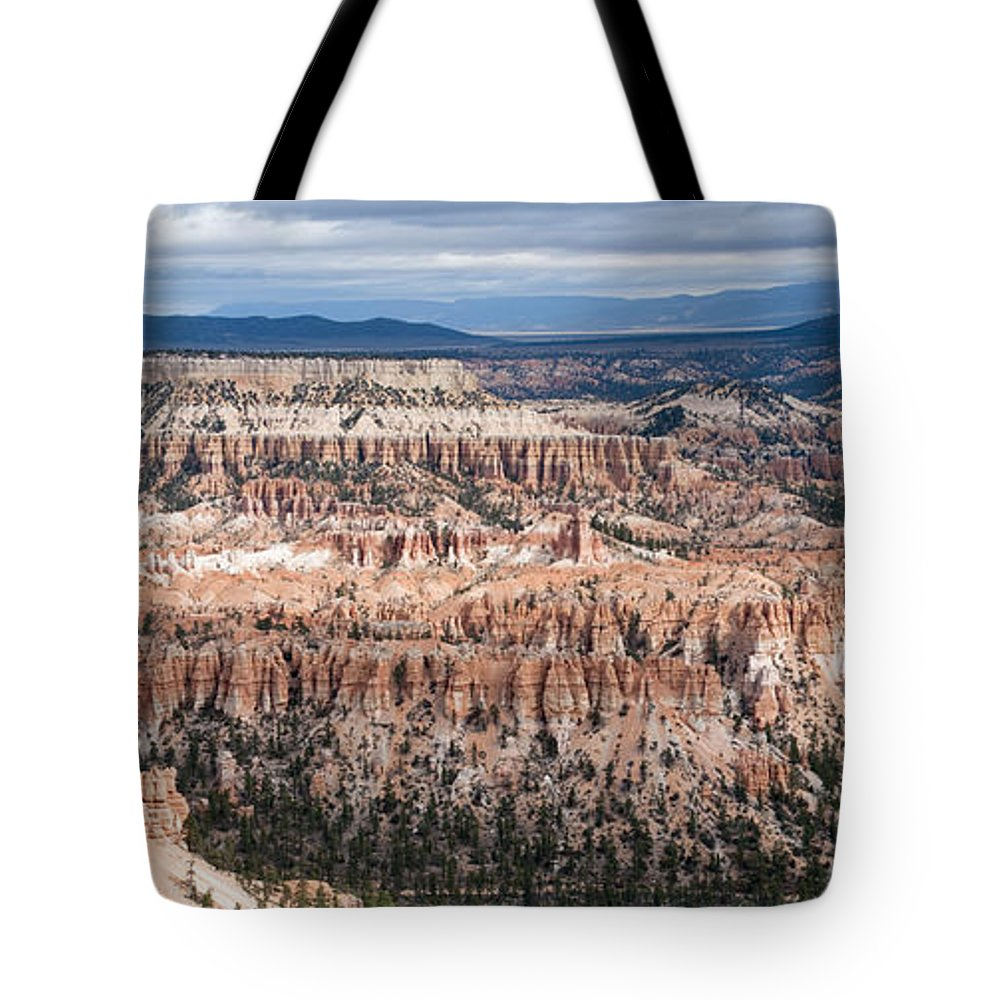 Bryce Canyon National Park Tote Bag featuring the photograph Bryce Canyon Overlook by Sandra Bronstein