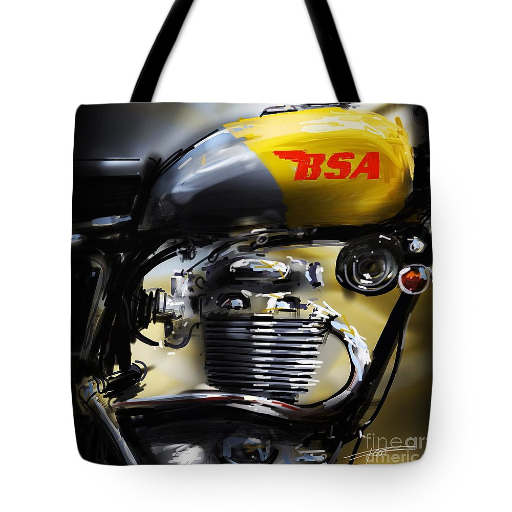 Bsa Tote Bag featuring the painting Bsa 1 by Peter Fogg
