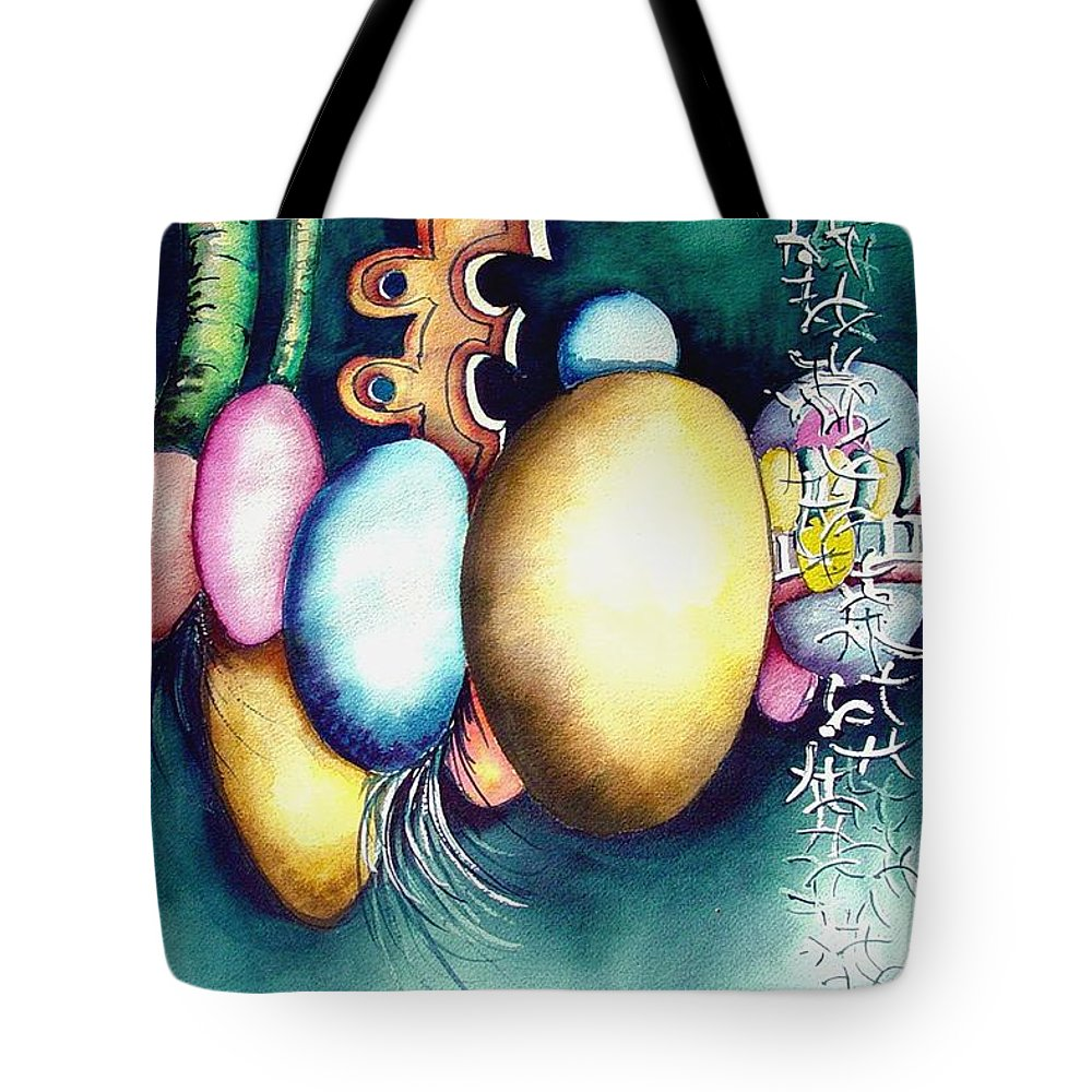 Frog Tote Bag featuring the painting Bubble Frog by Sam Sidders