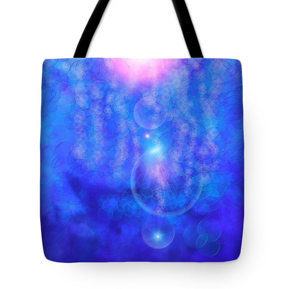 Pink Tote Bag featuring the digital art Bubble Vision by Anthony Robinson