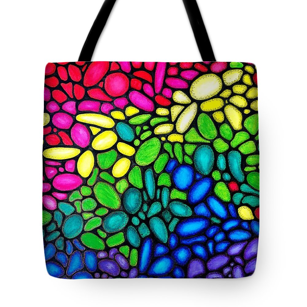 Balls Tote Bag featuring the painting Bubbles by Bijna Balan