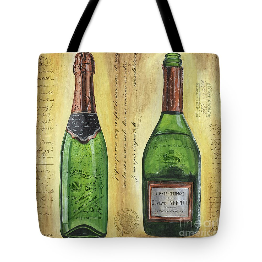 Champagne Flute Tote Bags