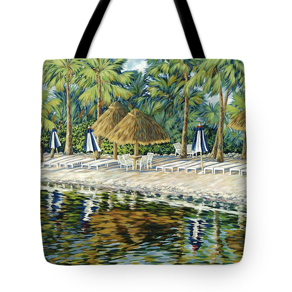 Key Largo Tote Bag featuring the painting Buccaneer Island by Danielle Perry