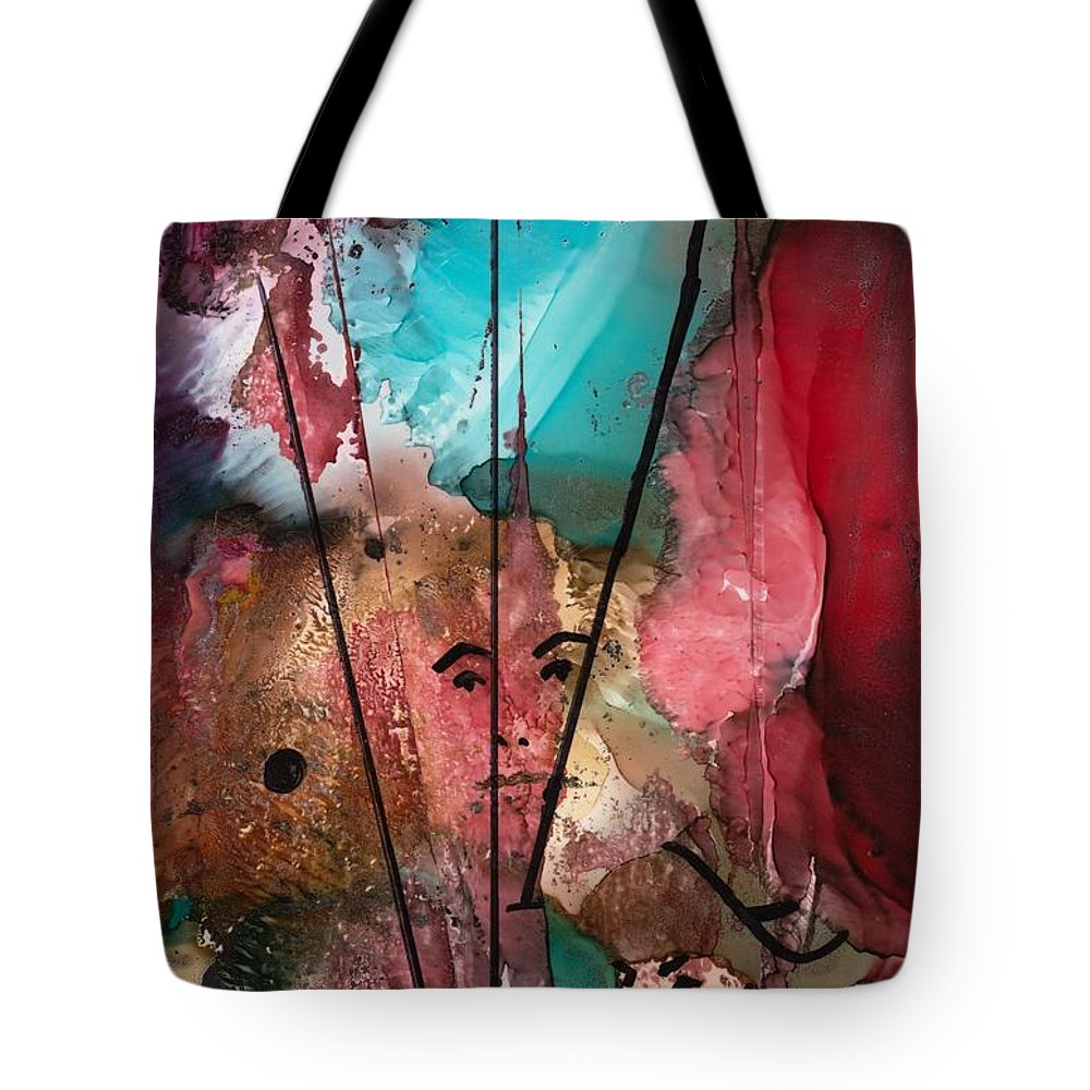 Pirate Tote Bag featuring the mixed media Buccaneers by Susan Kubes