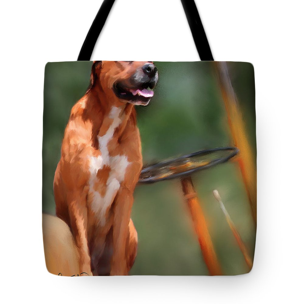 Dog Tote Bag featuring the painting Buck by Colleen Taylor