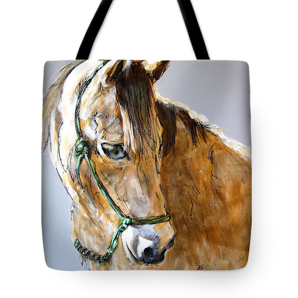 Morgan Horse Tote Bag featuring the painting Buck Of The Morgan Horse Ranch Point Reyes National Seashore by Paul Miller