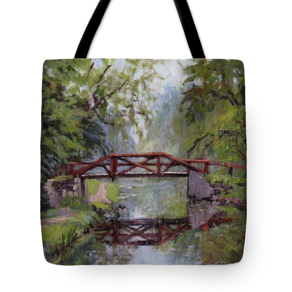 Pennsylvania Tote Bag featuring the painting Bucks County Days by L Diane Johnson