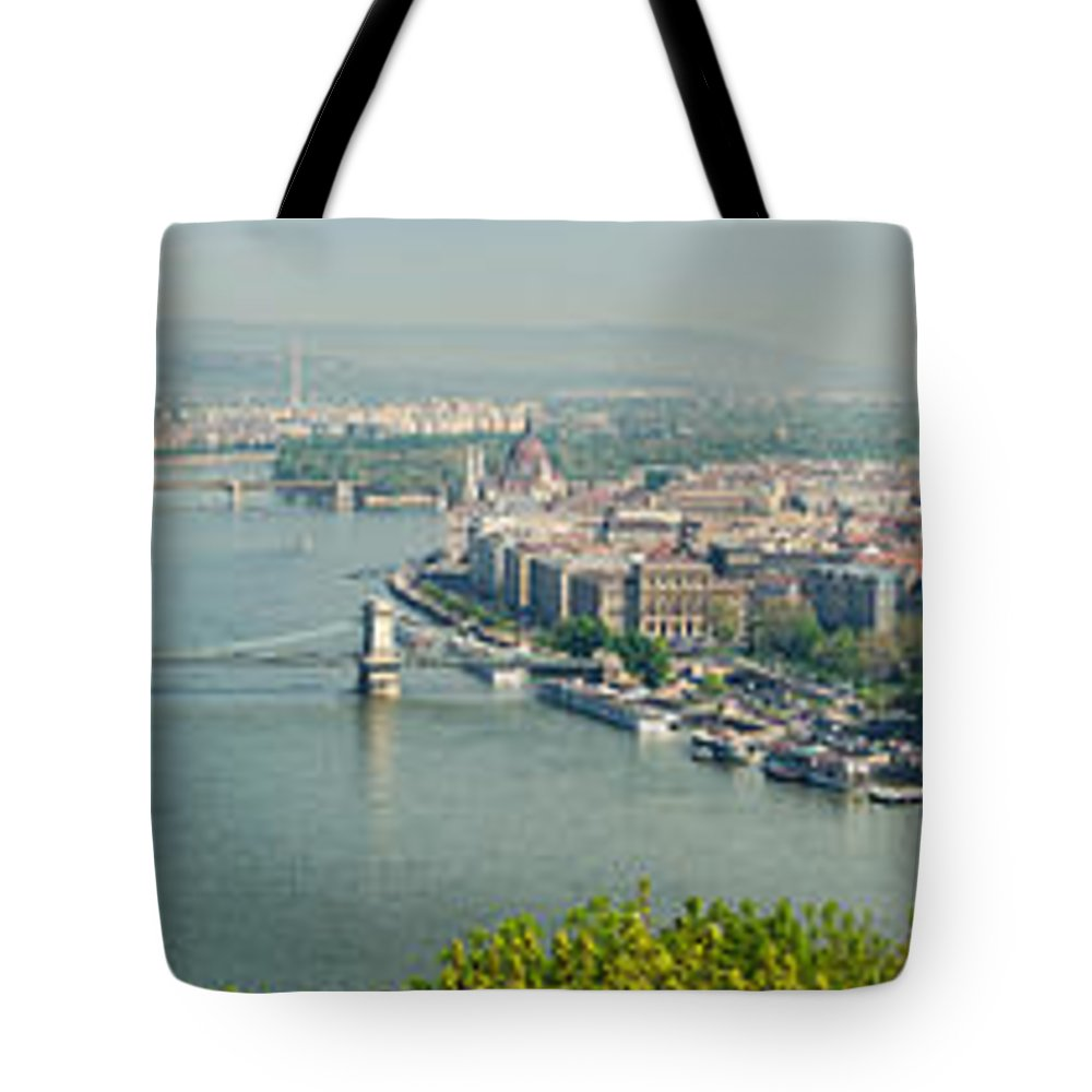 Budapest Tote Bag featuring the photograph Budapest Panorama Photo by Matthias Hauser