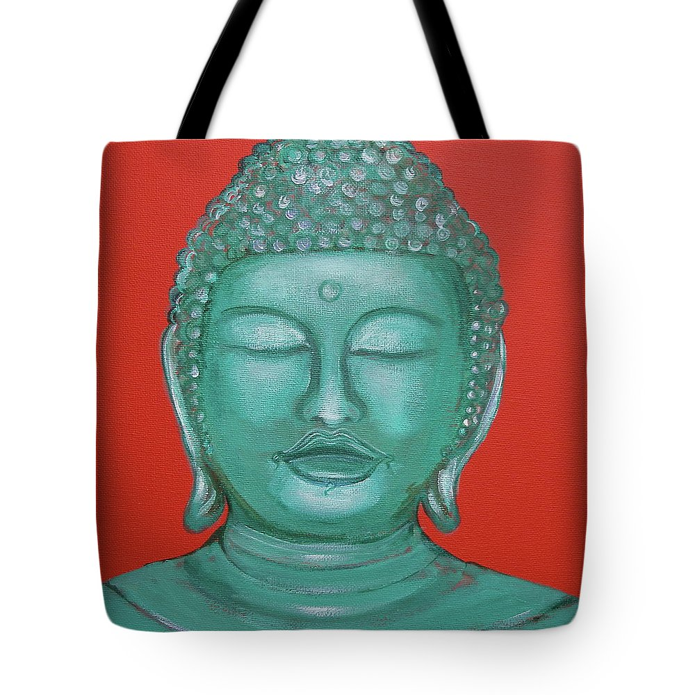 Buddah Tote Bag featuring the painting Buddah I by Sue Wright