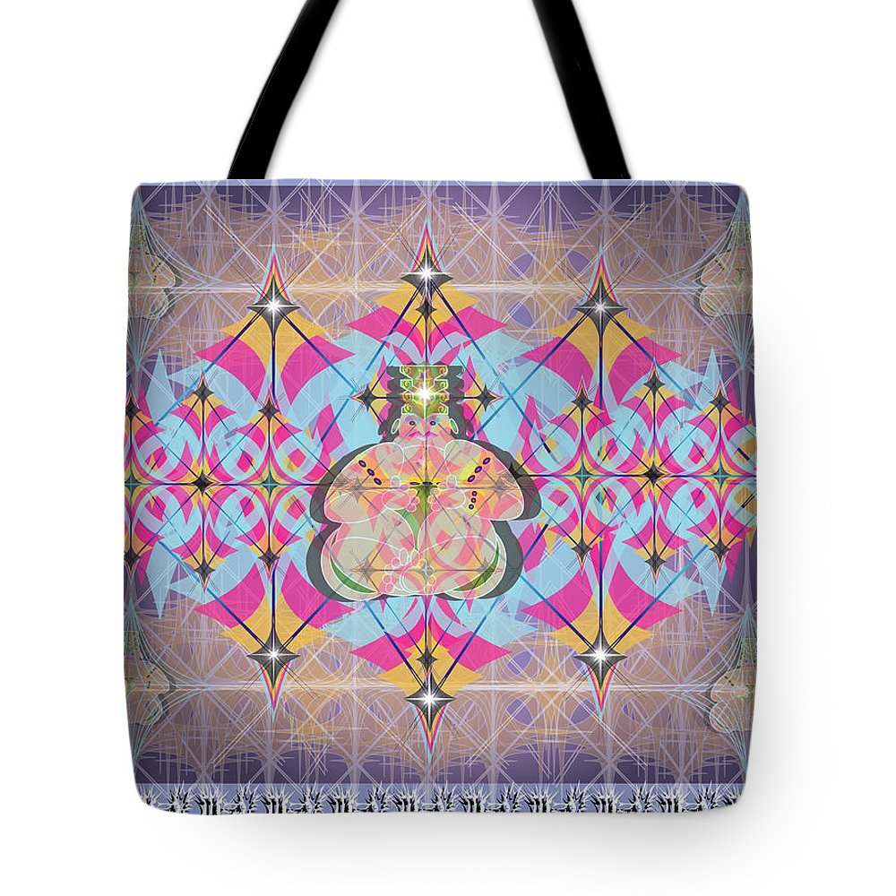 Abstract Tote Bag featuring the digital art Buddah II by George Pasini