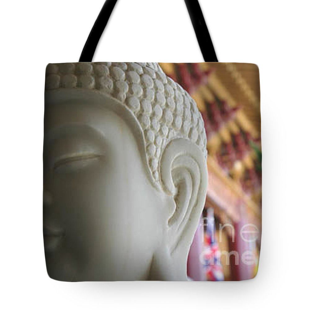 Zen Tote Bag featuring the photograph Buddha At Hsi Lai Temple by Michael Ziegler