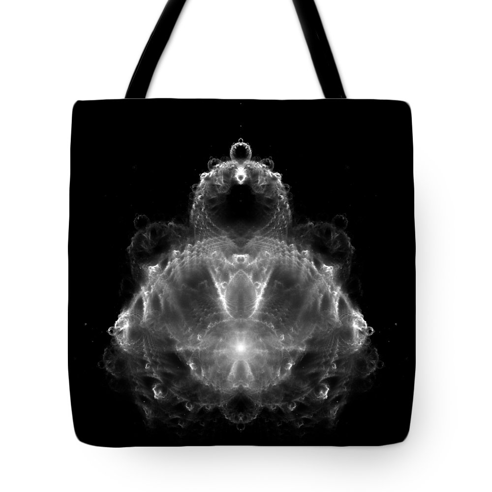 Buddha Tote Bag featuring the digital art Buddha Fractal by Piece of Infinity