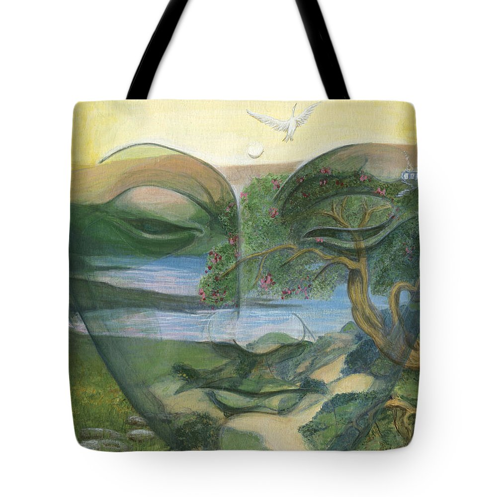 Children Tote Bag featuring the painting Buddha by Nad Wolinska