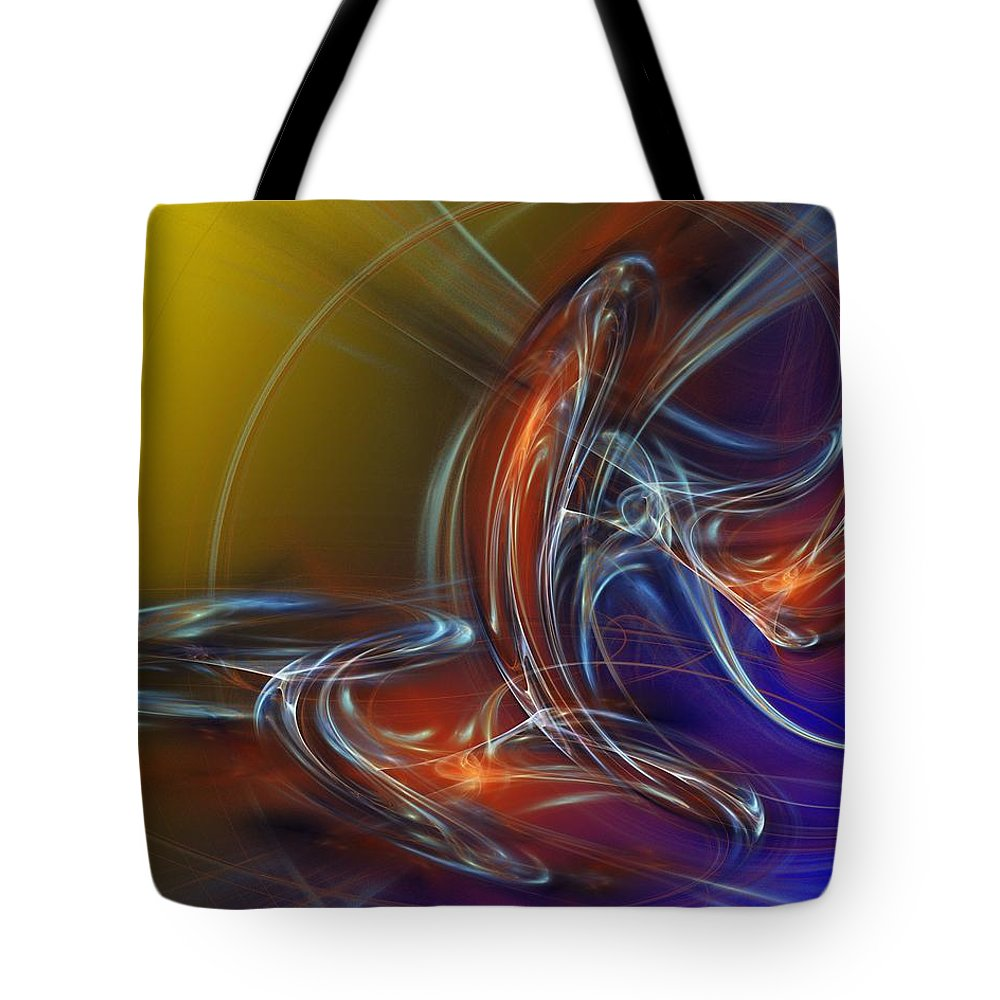 Fine Art Tote Bag featuring the digital art Buddhist Protest by David Lane
