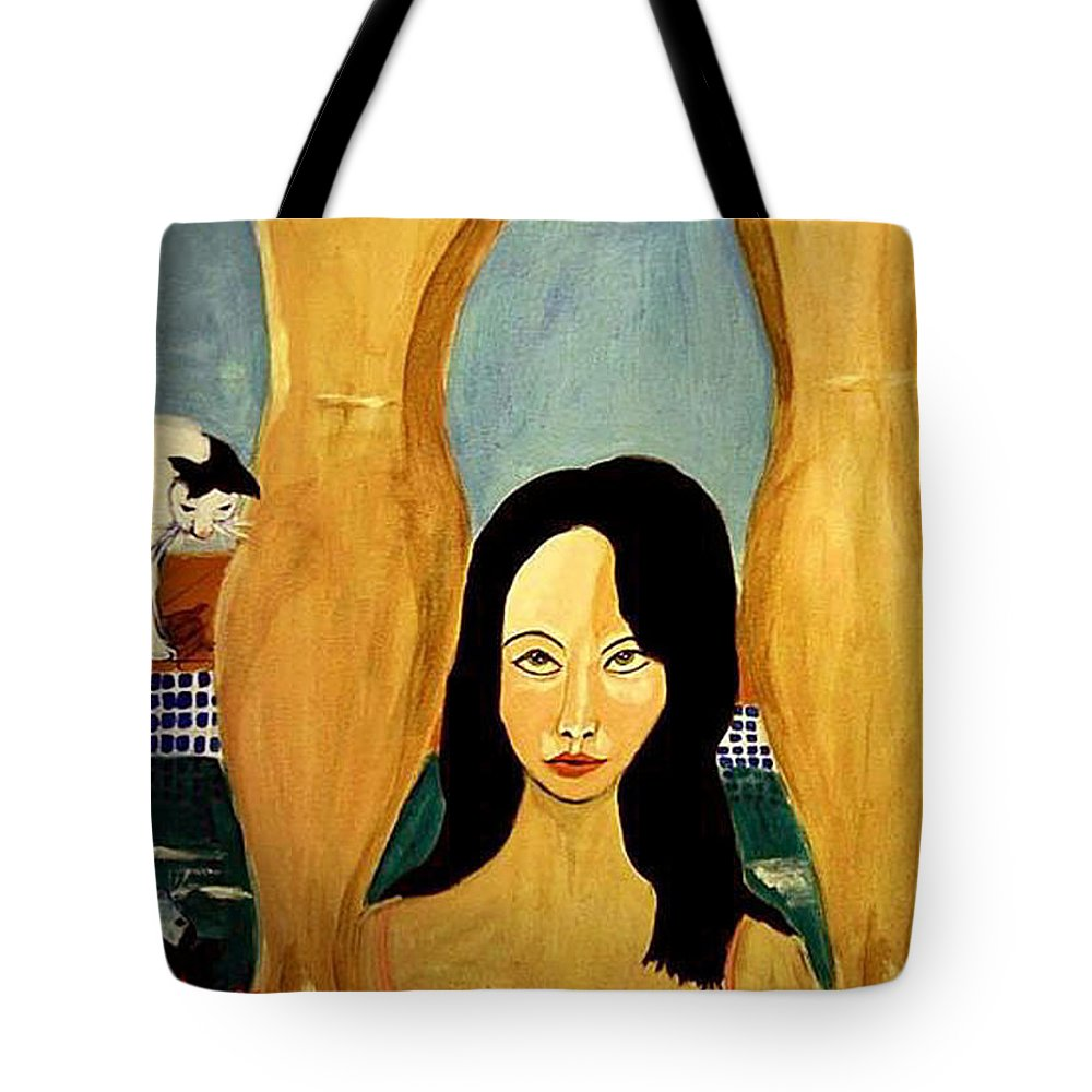 Cat Tote Bag featuring the painting Buena Vista by Rusty Gladdish