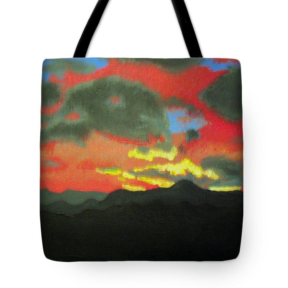 Sunset Tote Bag featuring the painting Buenas Noches by Marco Morales