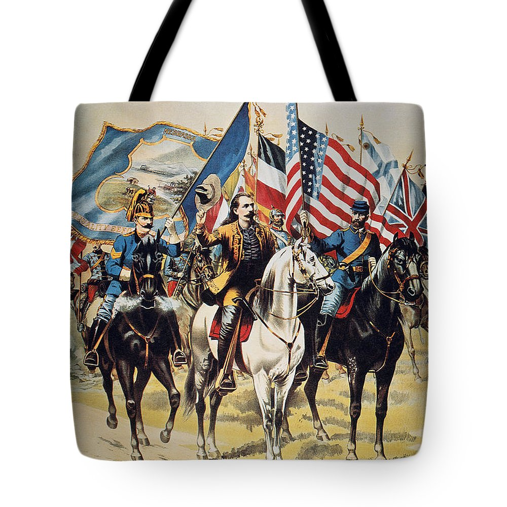 1893 Tote Bag featuring the photograph Buffalo Bill: Poster, 1893 by Granger