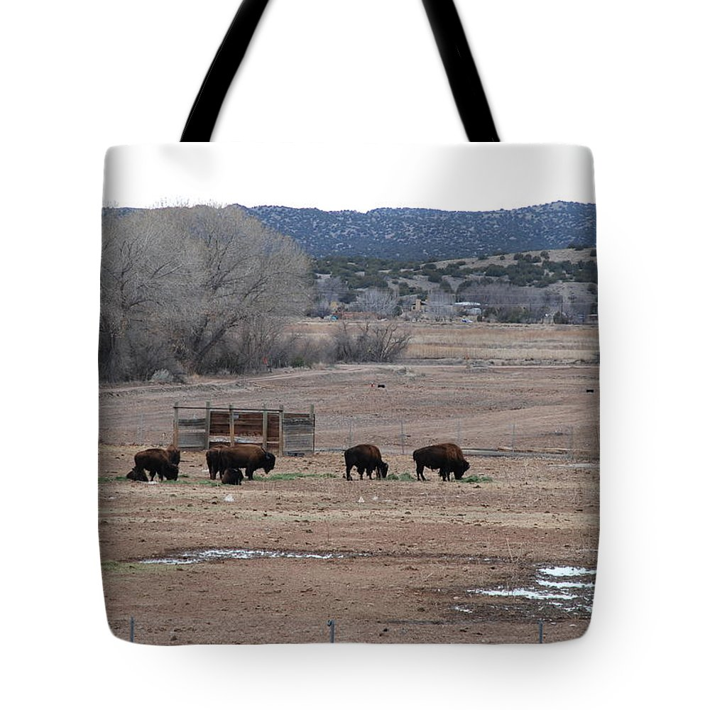 Buffalo Tote Bag featuring the photograph Buffalo New Mexico by Rob Hans