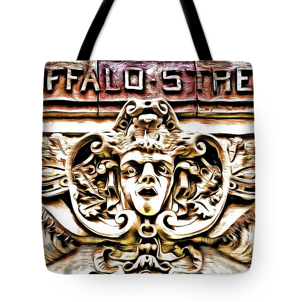 Street Tote Bag featuring the photograph Buffalo Street by Robb Shaffer