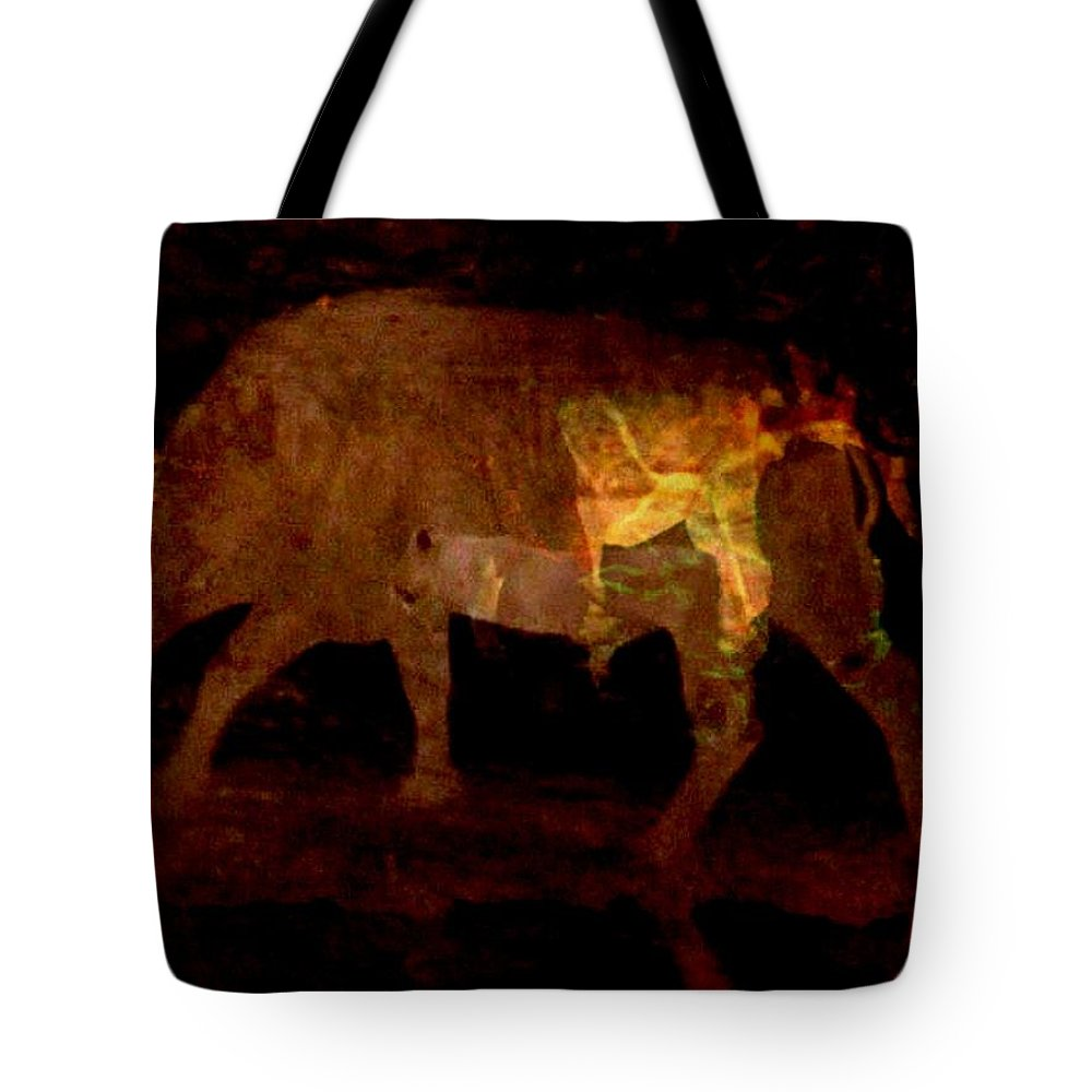 Animals Tote Bag featuring the photograph Buffalo's Bluff Series 1 by Arlene Rabinowitz