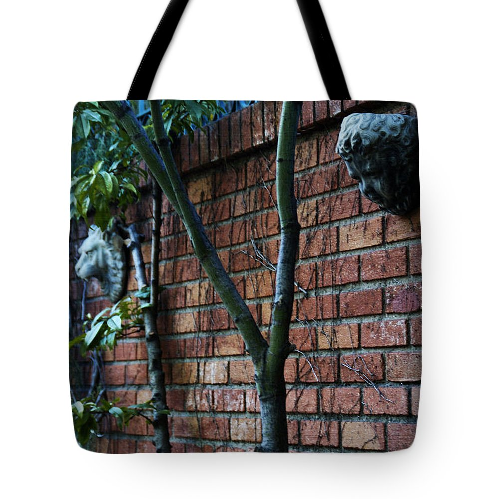 Brick Tote Bag featuring the photograph Building Walls by Linda Shafer