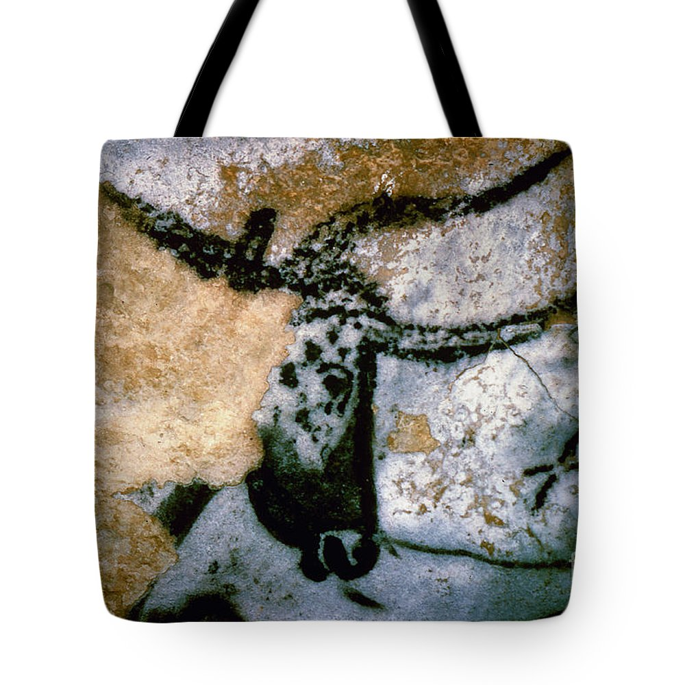 Bull Tote Bag featuring the photograph Bull: Lascaux, France by Granger