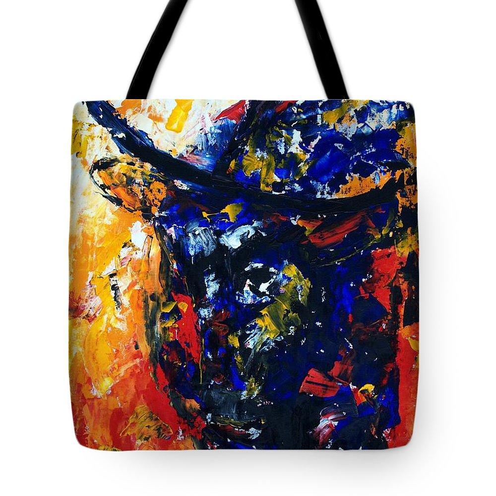 Bull Tote Bag featuring the painting Bull by Lidija Ivanek - SiLa