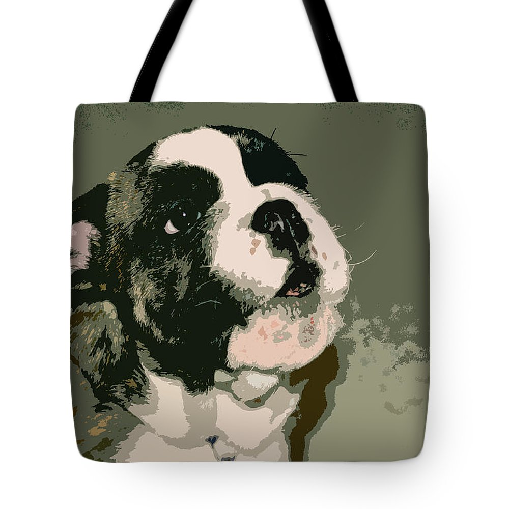 English Bulldog Tote Bag featuring the photograph Bulldog Puppy by Geoff Jewett