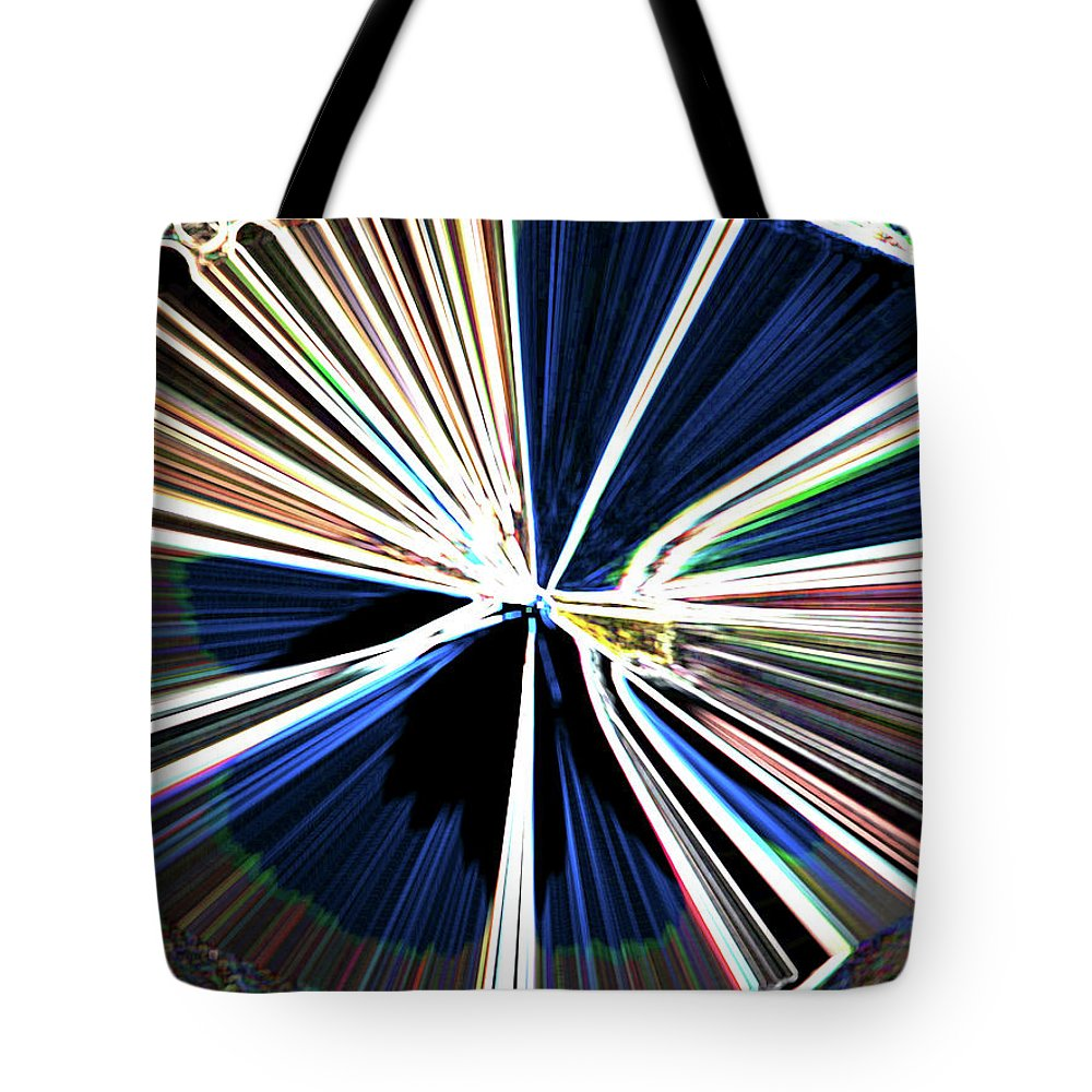 Abstract Tote Bag featuring the digital art Bullets In The Chamber by Lenore Senior