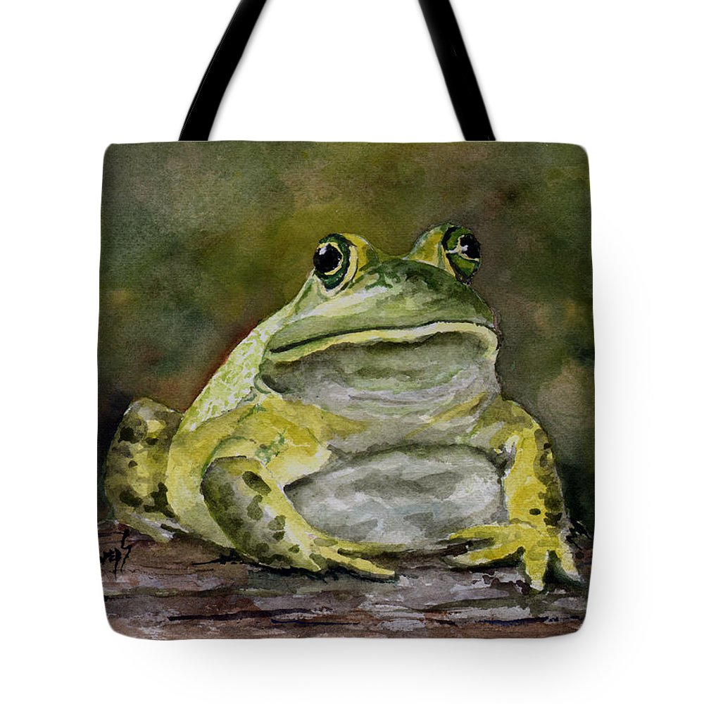 Frog Tote Bag featuring the painting Bully by Sam Sidders