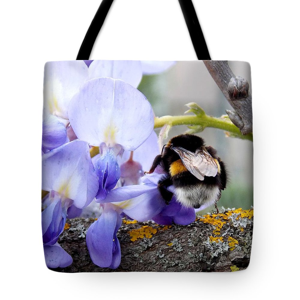 Bumblebee Tote Bag featuring the photograph Bumblebee by Olja Simovic