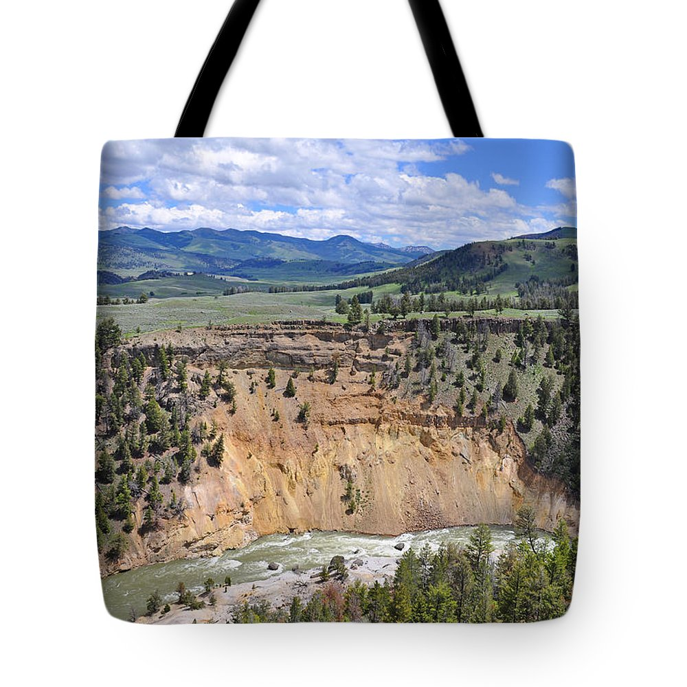Yellowstone Tote Bag featuring the photograph Bumpus Butte Yellowstone by Bruce Gourley